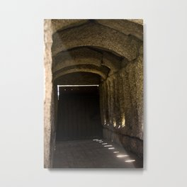 Sun through the stone and wood Metal Print