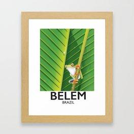 Belem Brazil travel poster Framed Art Print