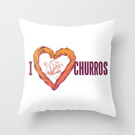 I love Churros Throw Pillow