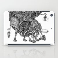 library iPad Cases featuring the wandering library 2 by vasodelirium