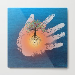 Tree of life healing Metal Print