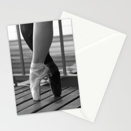 En Pointe Black & White Stationery Cards