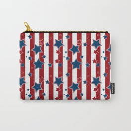 Blue stars, red striped Carry-All Pouch