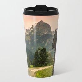 Cabin & Mountain Landscape Travel Mug