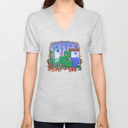 Mario Super Bros, Too Unisex V-Neck