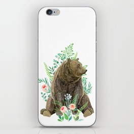 bear sitting in the forest iPhone Skin