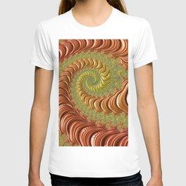 Bronze Twist - Fractal Art T-shirt