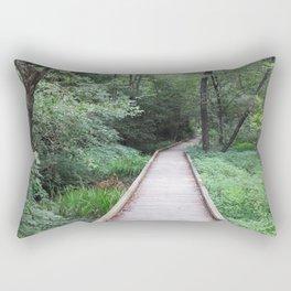 Wooden Pathway Rectangular Pillow