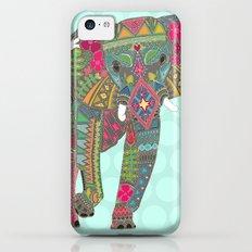 painted elephant aqua spot iPhone 5c Slim Case