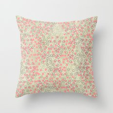 Dots and Rings-Neutral Throw Pillow