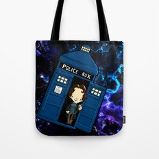 Tardis in space Doctor Who 8 Tote Bag