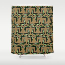 Rajah Brooke Birdwing Shower Curtain