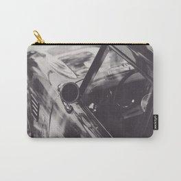 Triumph spitfire, classic sports car, elegant english car, black & white photo Carry-All Pouch