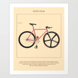 Bicycle Botanicals - Fixed Gear Art Print