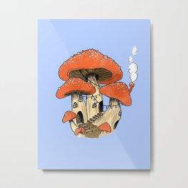 Mushroom Fairy Houses Metal Print