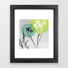 Abstract Flowers 2 Framed Art Print