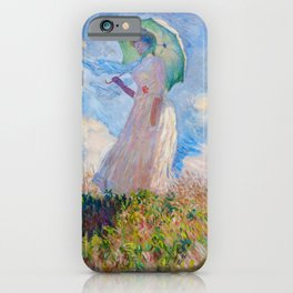 Claude Monet - Woman with a Parasol facing left iPhone Case