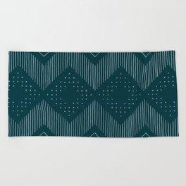 Teal Tribal Beach Towel