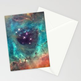Colorful Nebula Galaxy Stationery Cards