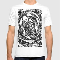 Twisted Child MEDIUM Mens Fitted Tee White