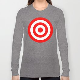 Bullseye Target Red & White Shooting Rings Long Sleeve T-shirt
