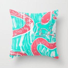 Drunken Snake Throw Pillow