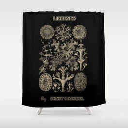 """""""Lichenes"""" from """"Art Forms of Nature"""" by Ernst Haeckel Shower Curtain"""