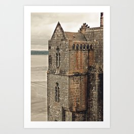 Mont St. Michel - Square Tower - Brittany France Art Print