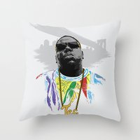 notorious Throw Pillows featuring Notorious by Tecnificent