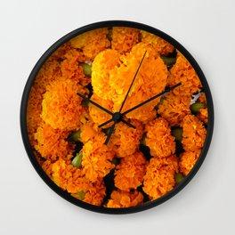 Marigold Florals Wall Clock