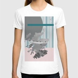 Scotland, the land of the mountains multi-coloured T-shirt