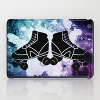 roller derby iPad Cases featuring Roller Derby Galaxy Skates by Mean Streak