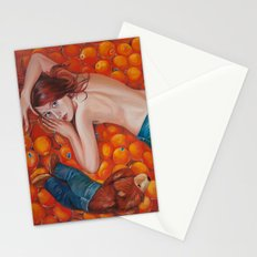 Lines of Me. Scarfy & Oranges.  Stationery Cards