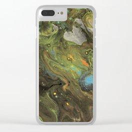 Acrylic Paint Pour (Dirty Pour) 1 Clear iPhone Case