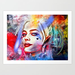 Harley Quinn Painted Art Print
