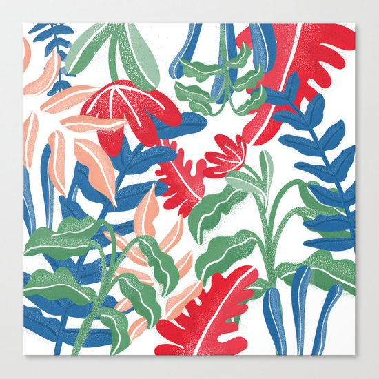Tropical Vibes Pattern Canvas Print