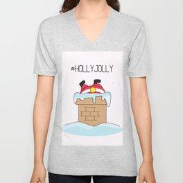 Holly jolly  Santa Unisex V-Neck