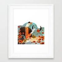 taurus Framed Art Prints featuring Taurus by Leonard Peng