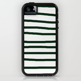 Simply Drawn Stripes in Pine Green iPhone Case