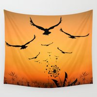 freedom Wall Tapestries featuring Freedom by Cs025