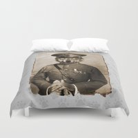 general Duvet Covers featuring The general by Seamless