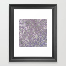 Ab Marb Magenta Framed Art Print