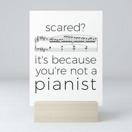Fearless pianist Mini Art Print