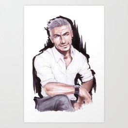 Marker Sketch Art Print