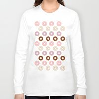 doughnut Long Sleeve T-shirts featuring Doughnut Polka by Karolis Butenas