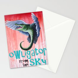 Owligator From the Sky Stationery Cards