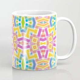 Modern Trendy Kaleidoscope Mosaic Pattern Coffee Mug