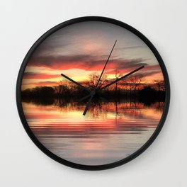 """Sunrise Lakefront"" Wall Clock"