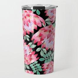 Watercolor Protea Travel Mug