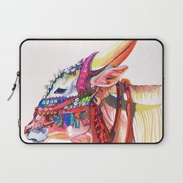 Himalayan Cow at Dusk Laptop Sleeve